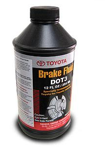 TOYOTA BRAKE FLUID DOT3, 0,5 литра