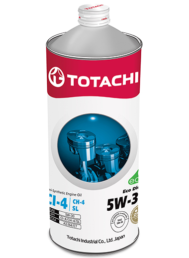 TOTACHI Eco Diesel Semi-Synthetic CI-4/CH-4/SL 5W-30, 1 литр