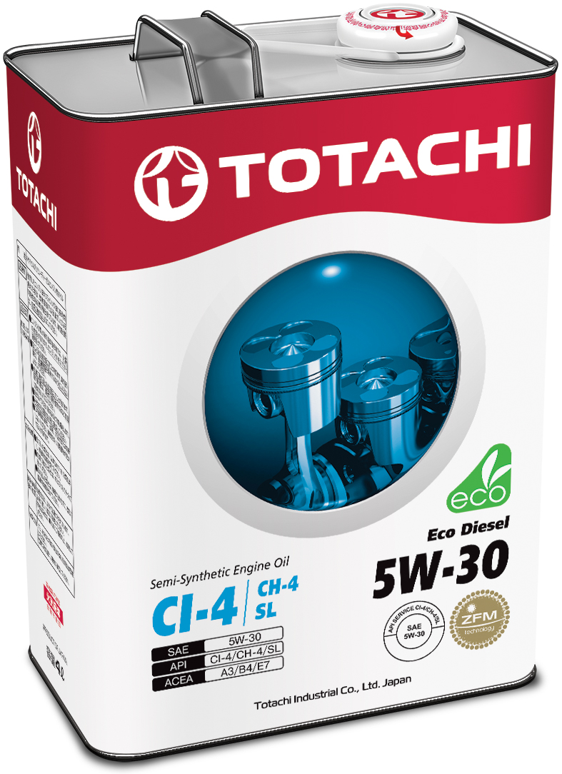 TOTACHI Eco Diesel Semi-Synthetic CI-4/CH-4/SL 5W-30, 4 литра