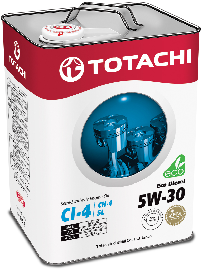 TOTACHI Eco Diesel Semi-Synthetic CI-4/CH-4/SL 5W-30, 6 литров