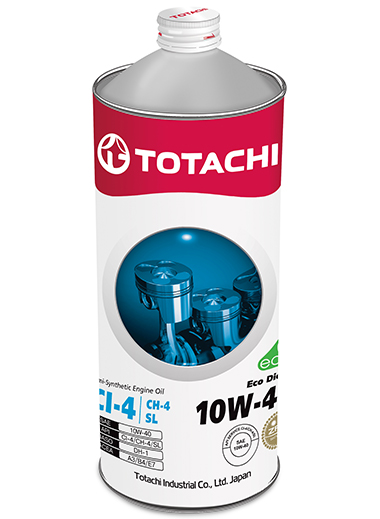 TOTACHI Eco Diesel Semi-Synthetic CI-4/CH-4/SL 10W-40, 1 литр