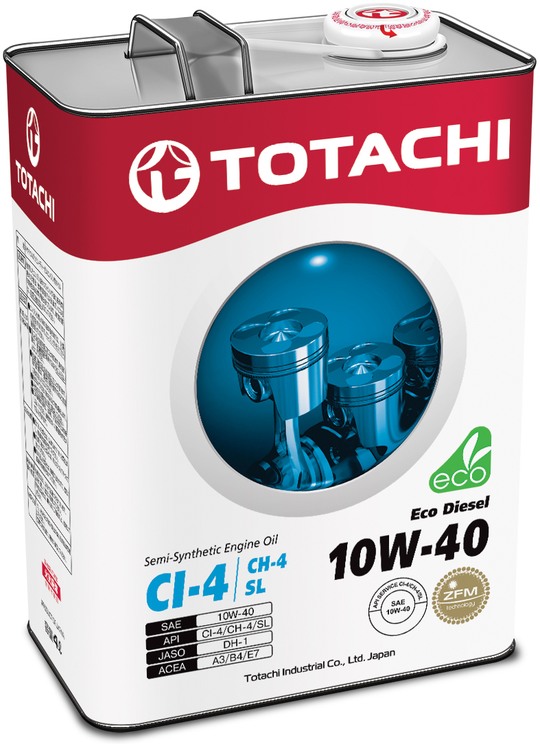 TOTACHI Eco Diesel Semi-Synthetic CI-4/CH-4/SL 10W-40, 4 литра
