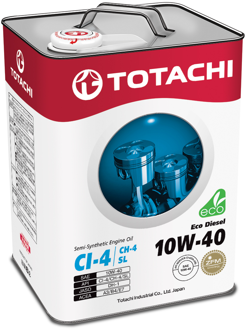 TOTACHI Eco Diesel Semi-Synthetic CI-4/CH-4/SL 10W-40, 6 литров