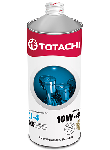 TOTACHI Long Life Semi-Synthetic CI-4 10W-40, 1 литр