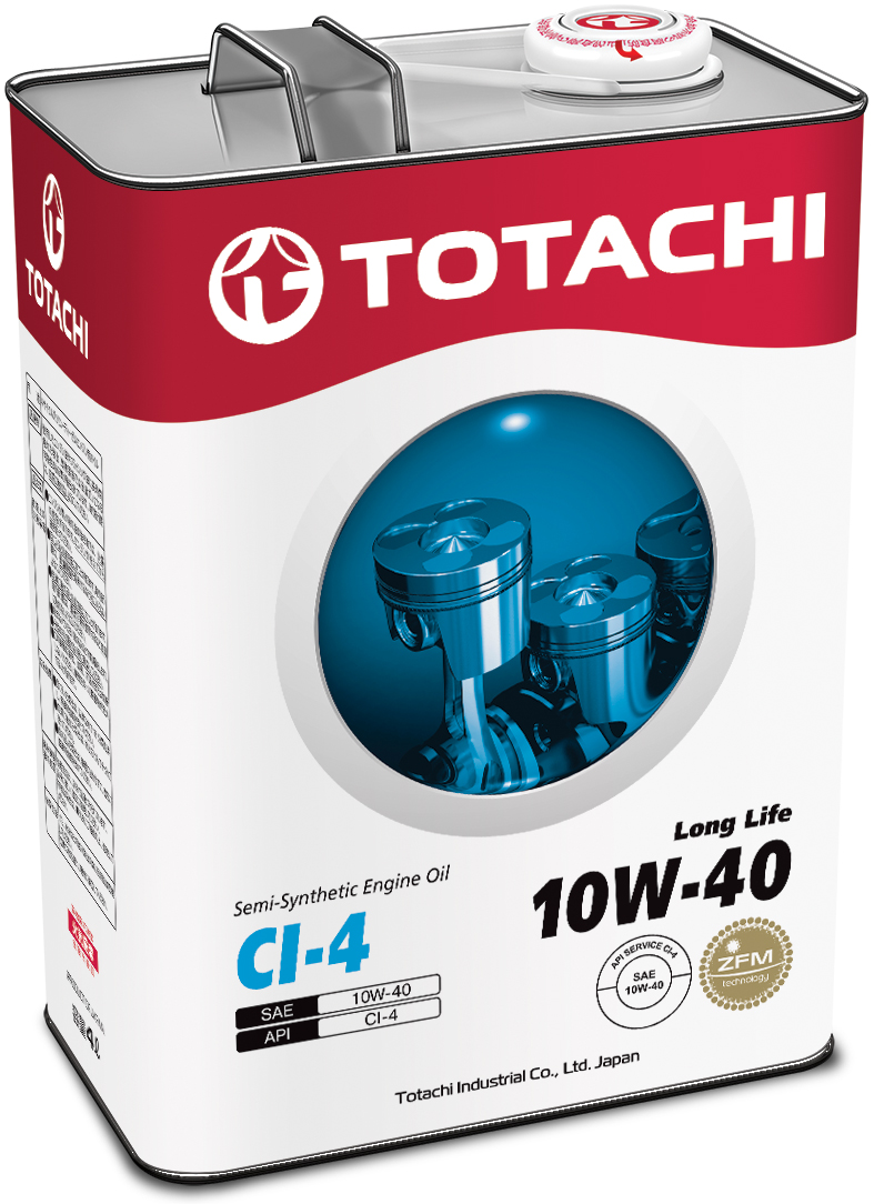 TOTACHI Long Life Semi-Synthetic CI-4 10W-40, 4 литра