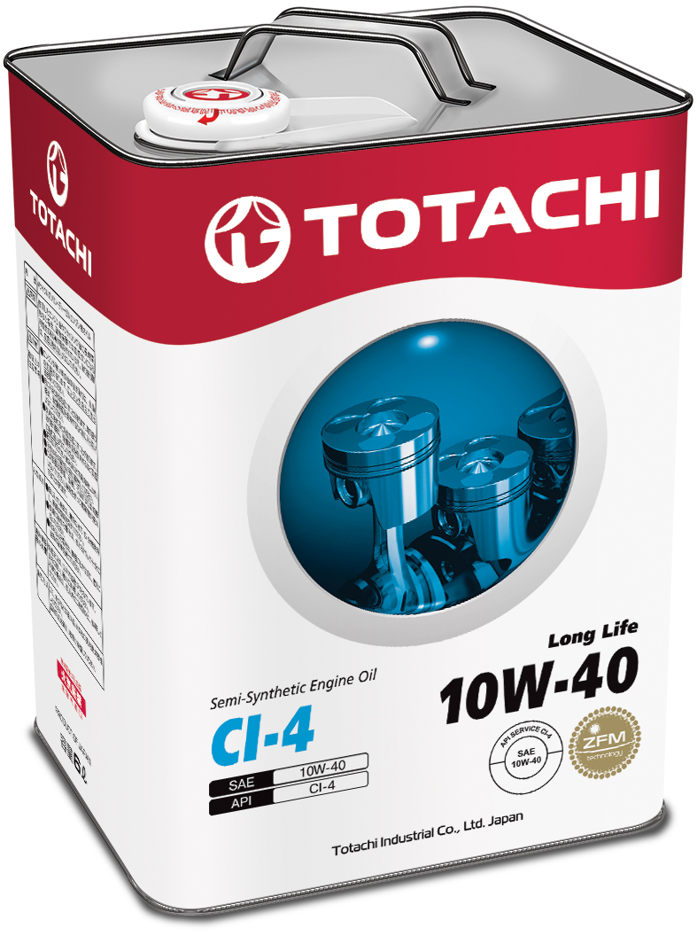 TOTACHI Long Life Semi-Synthetic CI-4 10W-40, 6 литров
