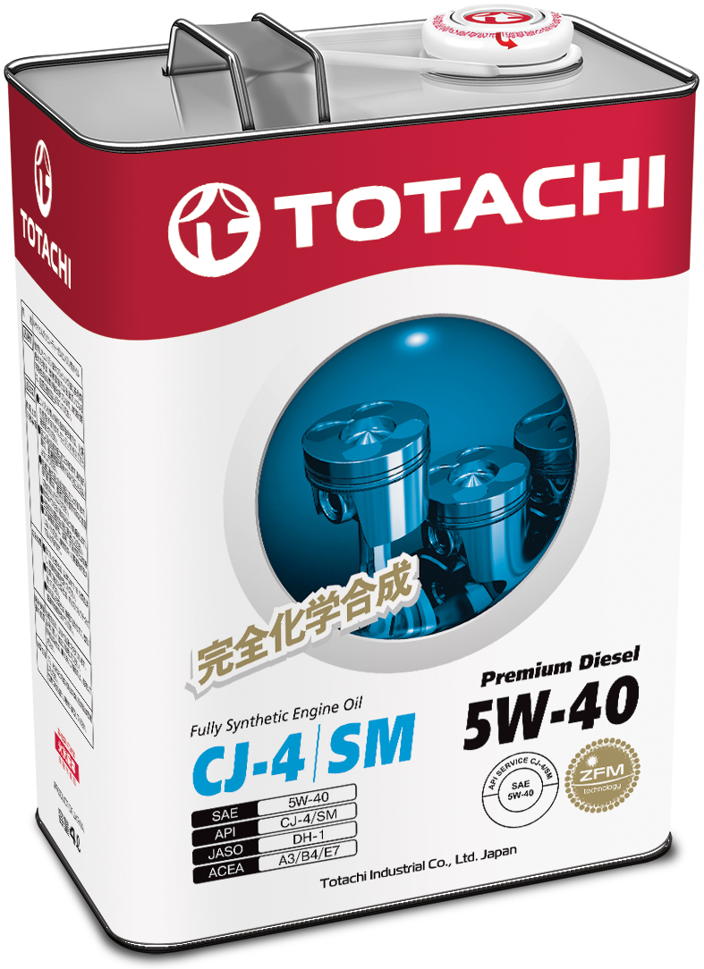 TOTACHI Premium Diesel Fully Synthetic CJ-4/SM 5W-40, 4 литра