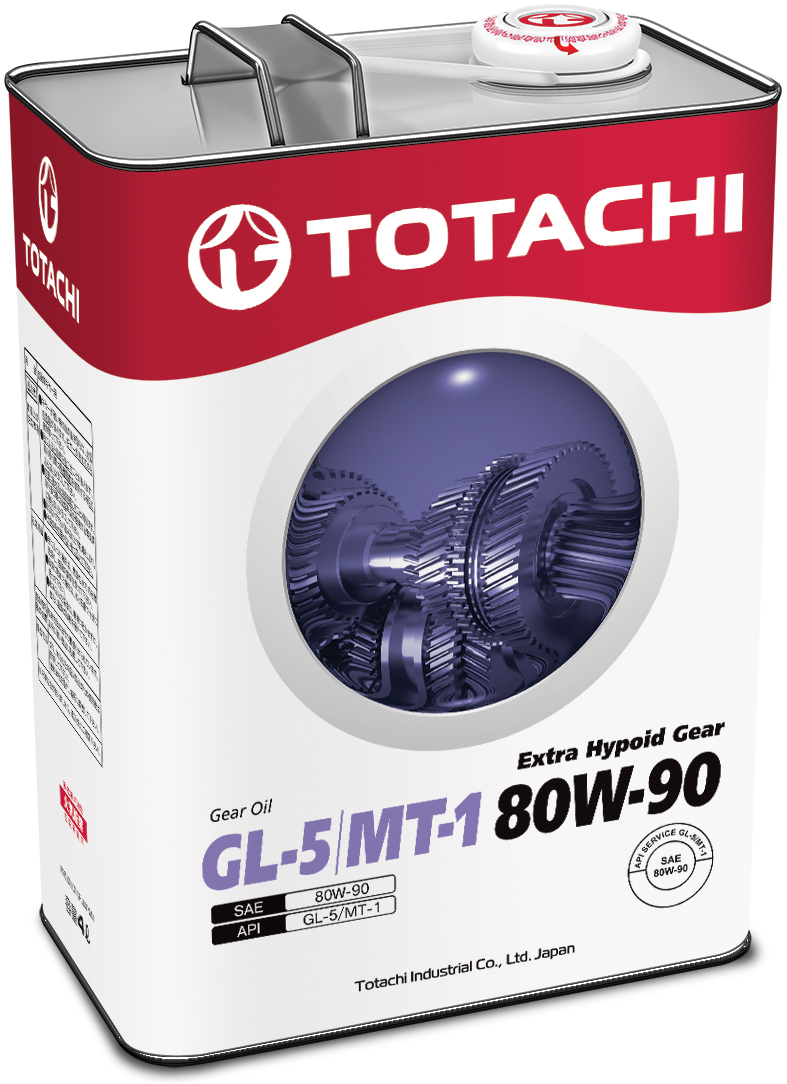 TOTACHI Extra Hypoid Gear GL-5/MT-1 80/90, 4 литра